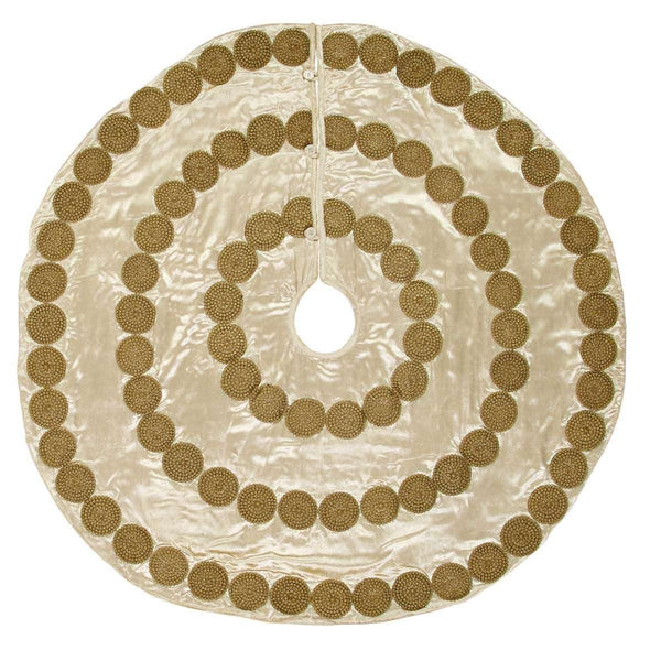 Memories Creme Christmas Tree Skirt 48 VHC Brands