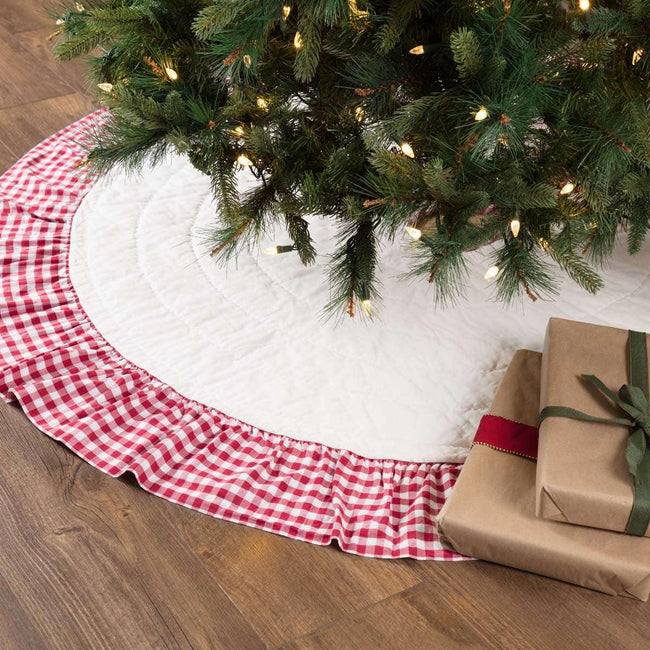 Emmie Red Ruffled Tree Skirt 60