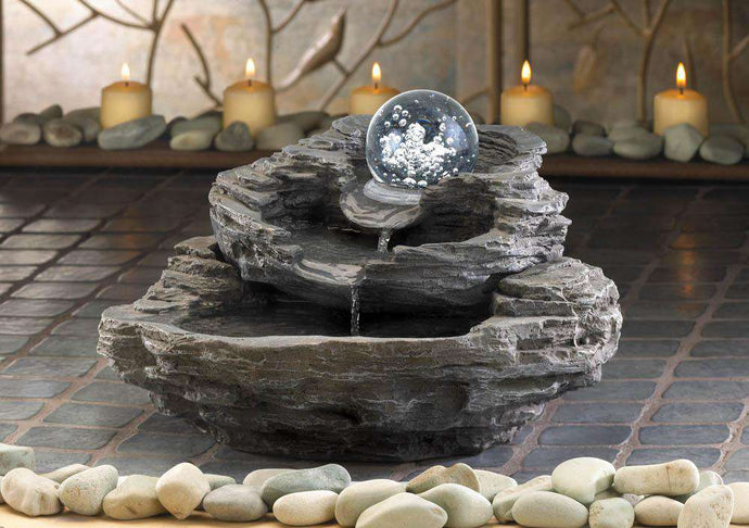 Rock Design Desk Fountain home decore Koehler Home Décor