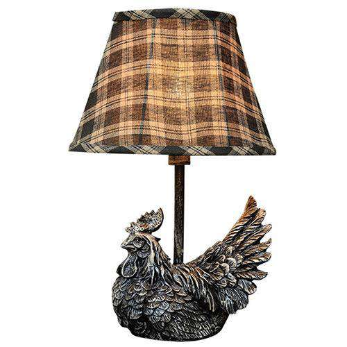 Rooster Accent Lamp w/Shade Lamps/Shades/Supplies CWI+
