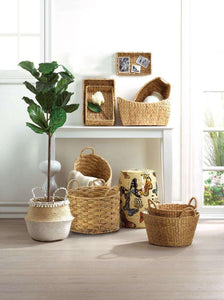 Round Wicker Baskets set of 2