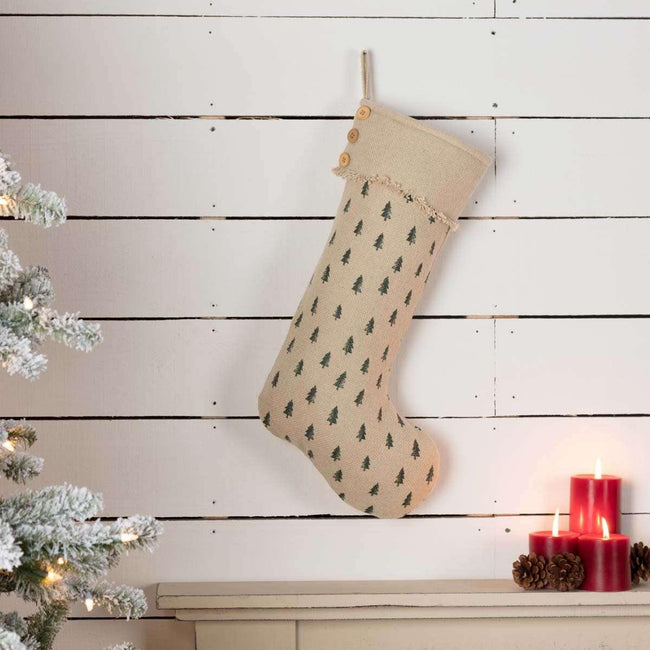 Vintage Burlap Tree Stocking 12x20