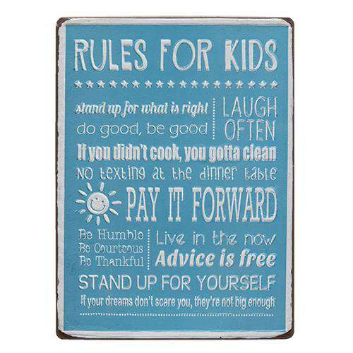 Rules For Kids Sign CHD Signs & Wall Accents CWI+