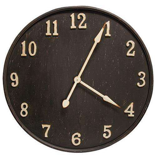 Rustic Black Metal Clock Country Clocks CWI+