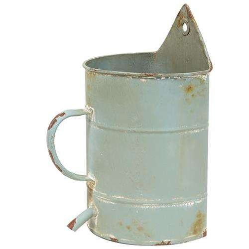 Rustic Blue Watering Can Flower Holder Containers CWI+