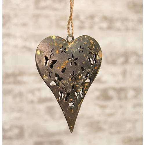 Rustic Heart Ornament Valentine decore CWI+