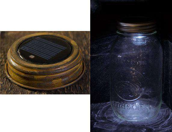 Rustic LED Solar Light Lid Lanterns/Lids CWI+