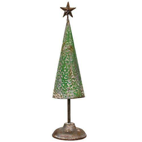 Rustic Metal Tree, 14 inch Christmas tree CWI Gifts