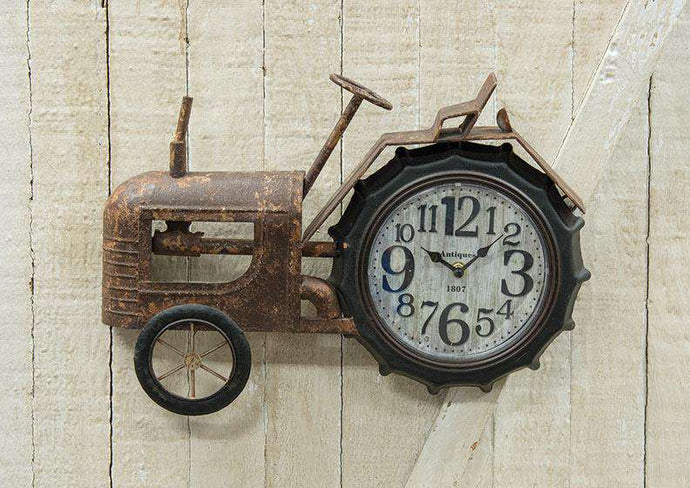 Rustic Tractor Clock Farmhouse Decor CWI+