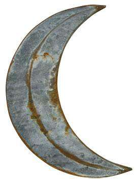 "Rusty Galvanized Moon - 20"" Barn Stars CWI+"