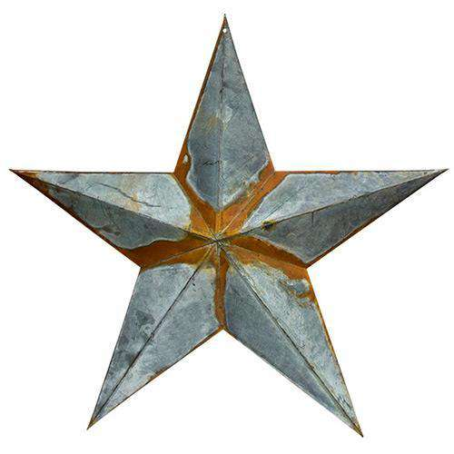 "Rusty Galvanized Star - 18"" Barn Stars CWI+"