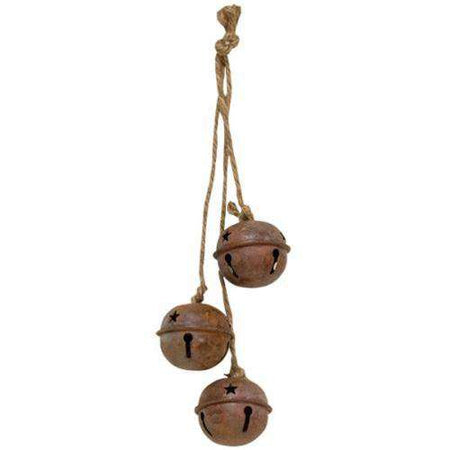 Rusty Jingle Bells Trio with Star Cutouts Bells CWI+