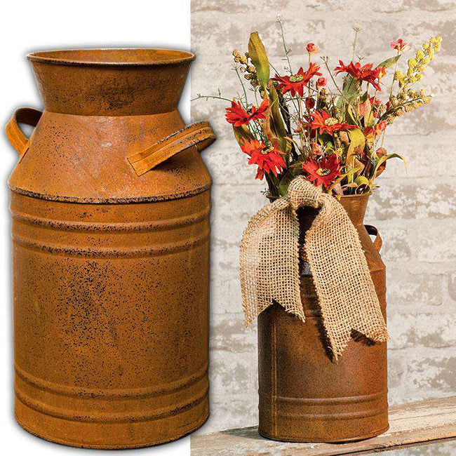 "Rusty Milk Can, 11"" Buckets & Cans CWI+"