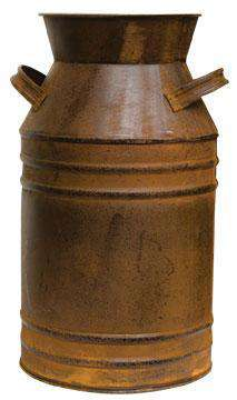 "Rusty Milk Can, 13"" Buckets & Cans CWI+"