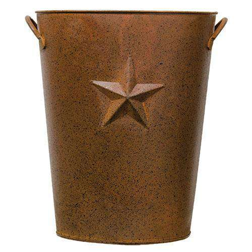Rusty Pail w/Embossed Star Buckets & Containers CWI+