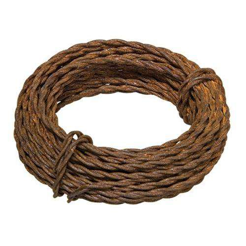 Rusty Twisted Wire 20 Gauge Wire & Wood CWI+
