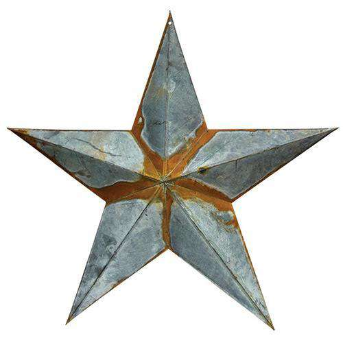 "Rusty/Galvanized Star 24"" Barn Stars CWI+"