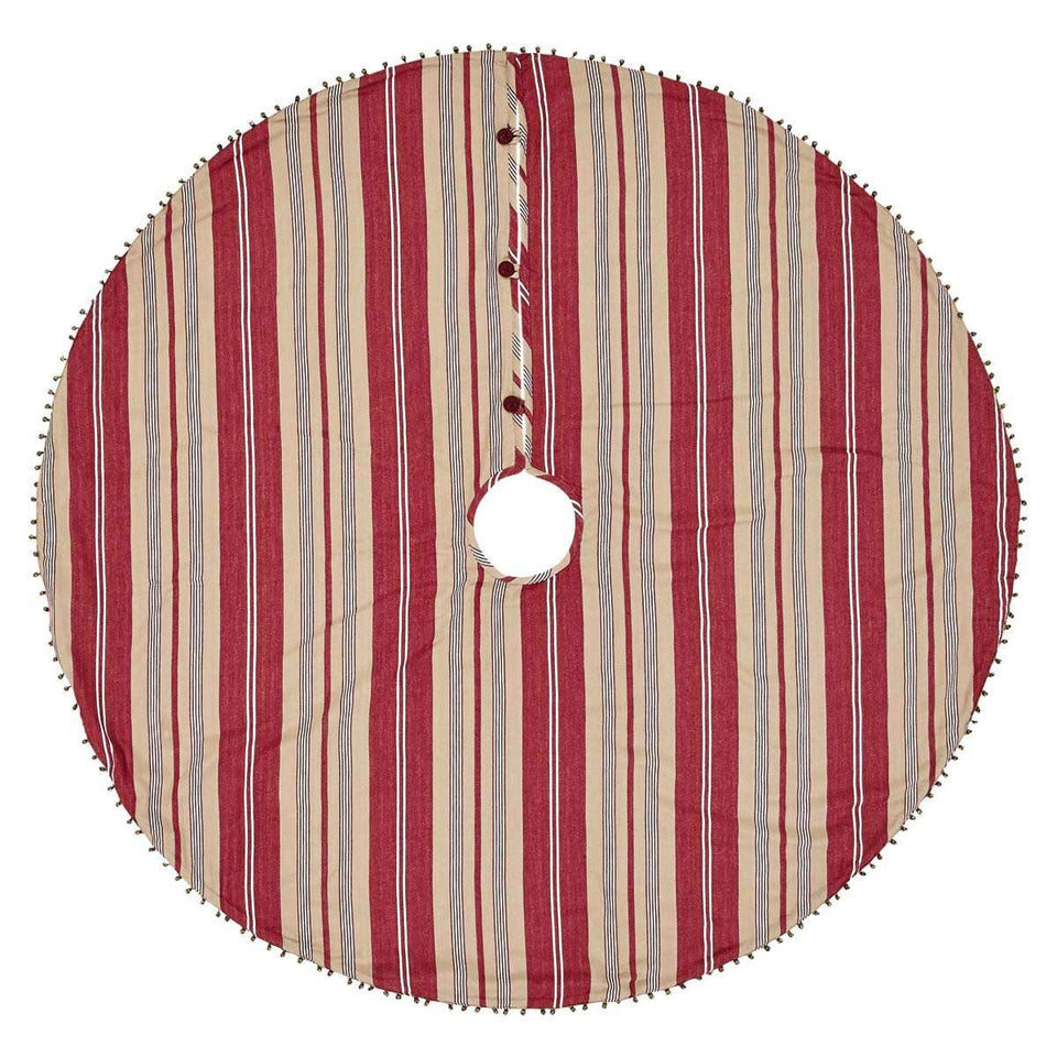 Vintage Stripe Christmas Tree Skirt 48 VHC Brands