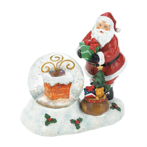 Santa Chimney LED Snow Globe Christmas Collection