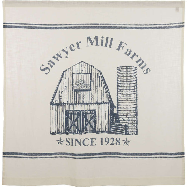 "Sawyer Mill Blue Barn Shower Curtain 72""x72"" curtain VHC Brands"