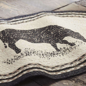 Sawyer Mill Charcoal Cow Jute Braided Rug Oval rugs VHC Brands
