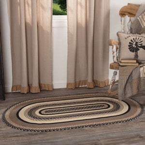 Sawyer Mill Charcoal Jute Braided Oval Rugs VHC Brands Rugs VHC Brands 3'x5'