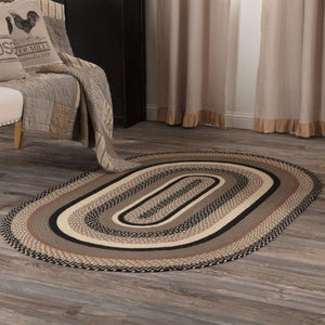 Sawyer Mill Charcoal Jute Braided Oval Rugs VHC Brands Rugs VHC Brands 4'x6'