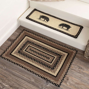 "Sawyer Mill Charcoal Jute Braided Rectangle Rugs VHC Brands Rugs VHC Brands 20"" x 30"""