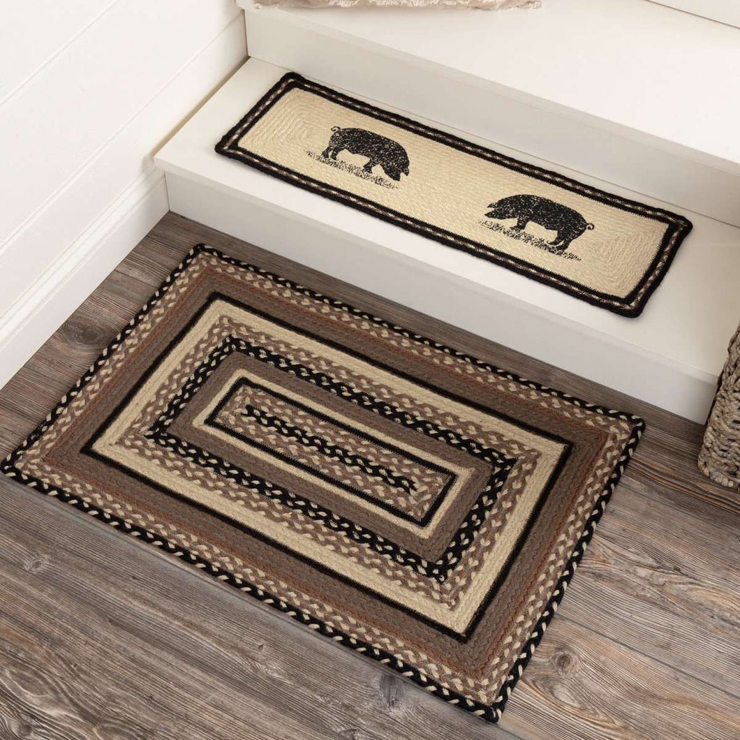 Sawyer Mill Charcoal Jute Braided Rectangle Rugs VHC Brands Rugs VHC Brands 20