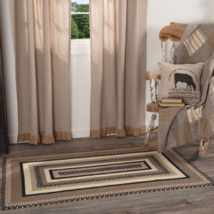 "Sawyer Mill Charcoal Jute Braided Rectangle Rugs VHC Brands Rugs VHC Brands 27"" x 48"""