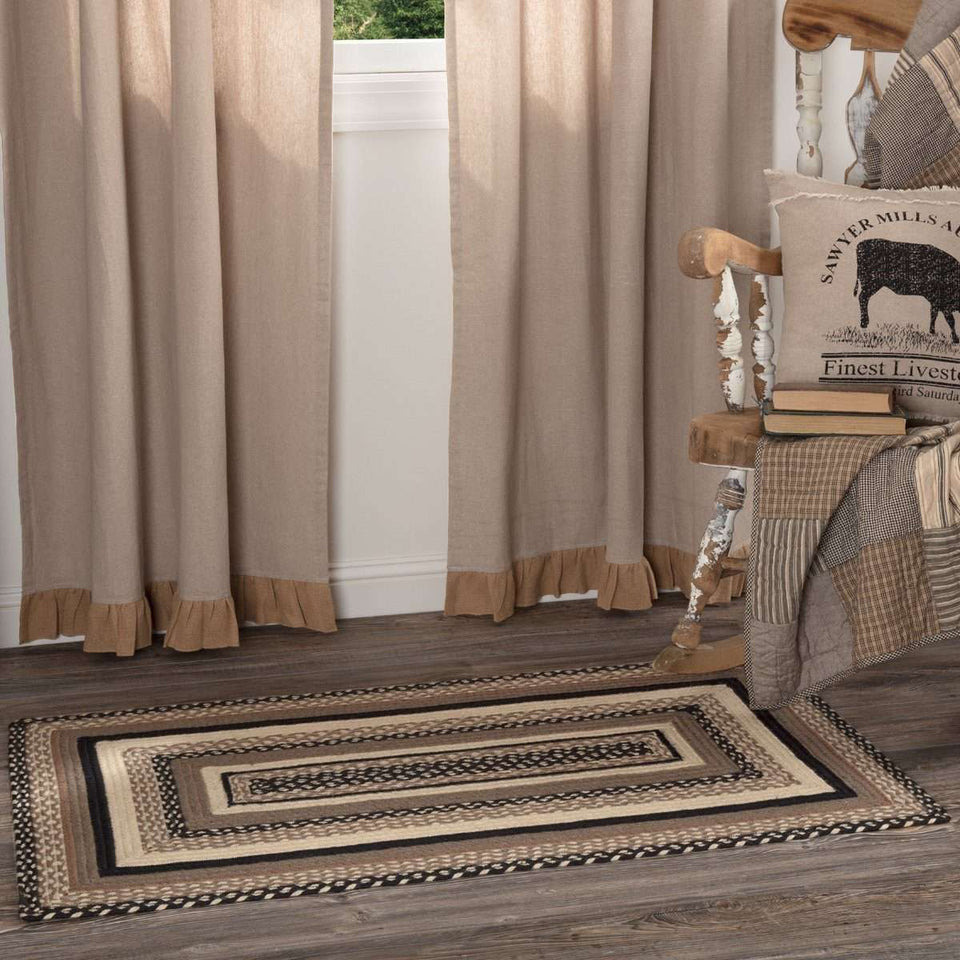 Sawyer Mill Charcoal Jute Braided Rectangle Rugs VHC Brands Rugs VHC Brands 3'x5'