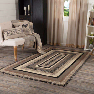 Sawyer Mill Charcoal Jute Braided Rectangle Rugs VHC Brands Rugs VHC Brands 5'x8'