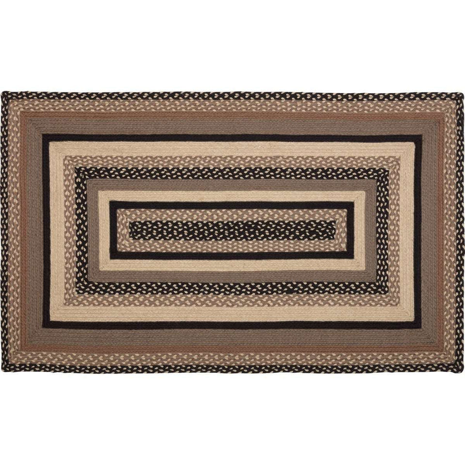 Sawyer Mill Charcoal Jute Braided Rectangle Rugs VHC Brands Rugs VHC Brands