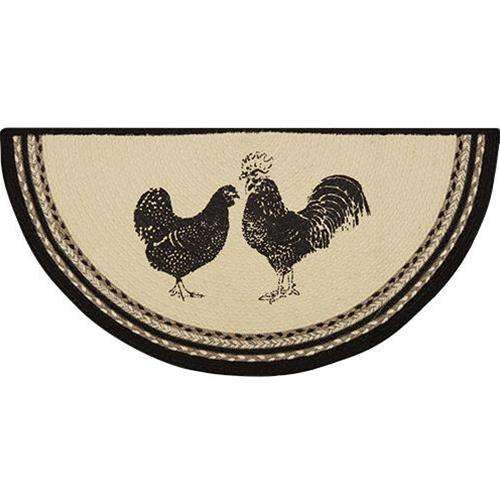 Sawyer Mill Charcoal Poultry Jute Half Rug General CWI+