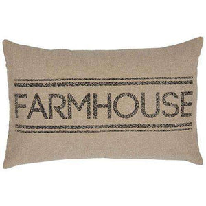 Sawyer Mill Farmhouse Pillow Charcoal, Red & Blue Pillows VHC Brands Charcoal