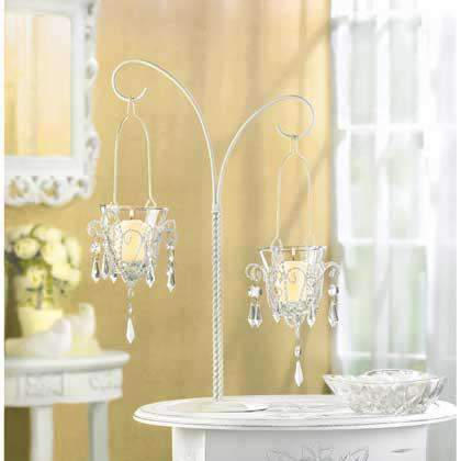 Shabby Chic Scroll Candelier candle holder Koehler Home Décor