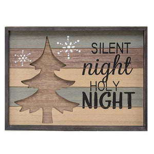 Silent Night Framed Sign Tabletop & Decor CWI+