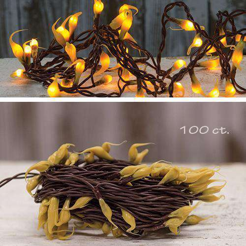 Silicone Teeny Lights, Brown Cord, 100ct Light Strands CWI+