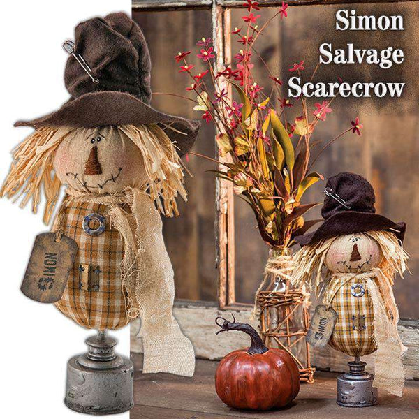 Simon Salvage Scarecrow Tabletop & Decor CWI+