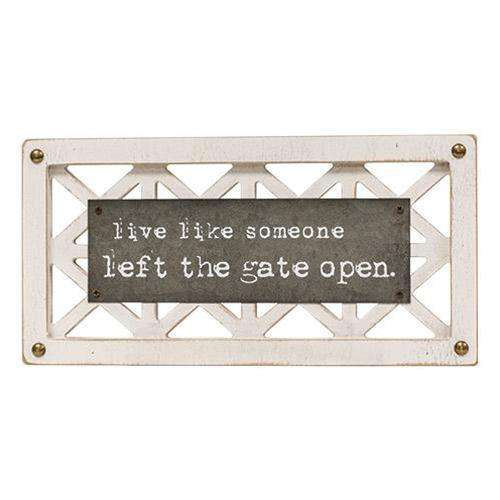 Simple Life Lattice Sign, 2 Asst. Pictures & Signs CWI+