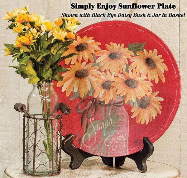 Simply Enjoy Sunflower Plate HS Plates & Signs CWI+