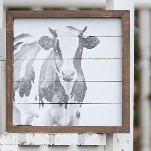 Simply Farmhouse Cow Sign General CWI+