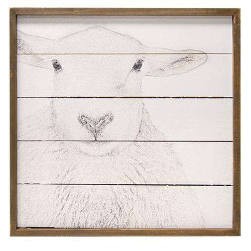 Simply Farmhouse Wall Sign - Sheep General CWI+