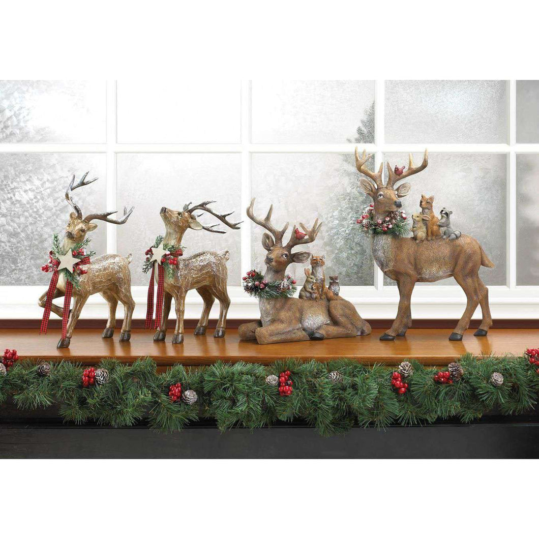 Sitting Woodland Reindeer Decor Christmas Collection