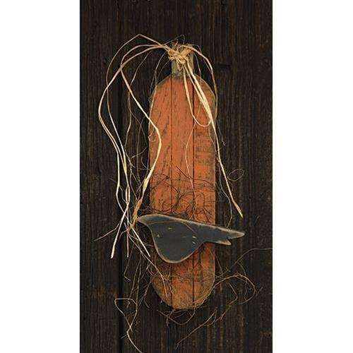 Skinny Lath Pumpkin w/Crow, Orange Wall CWI+