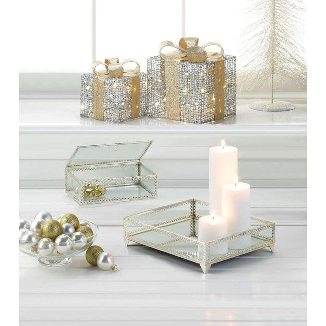 Light Up Gift Box Decor Large & Small Christmas Decor - The Fox Decor