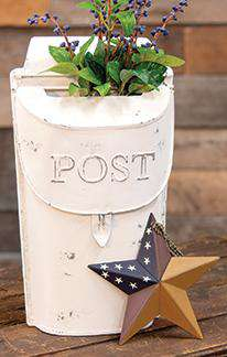 Small White Post Box Mail and Post Boxes CWI+