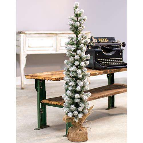 "Snow Tipped Pine Tree, 36"" New Christmas CWI+"