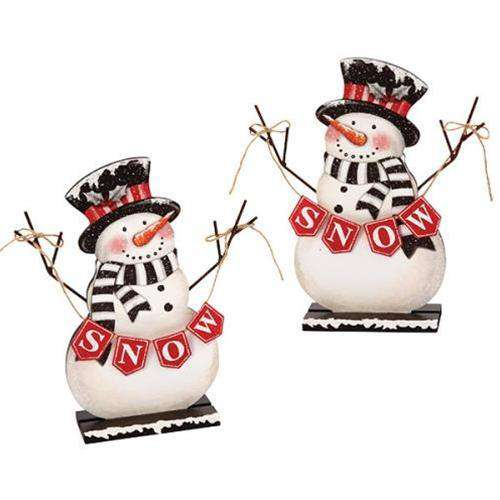 Snowman w/Snow Banner, Asst Tabletop & Decor CWI+