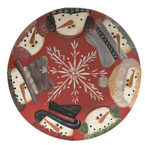 Snowmen Border Plate Plates & Holders CWI+